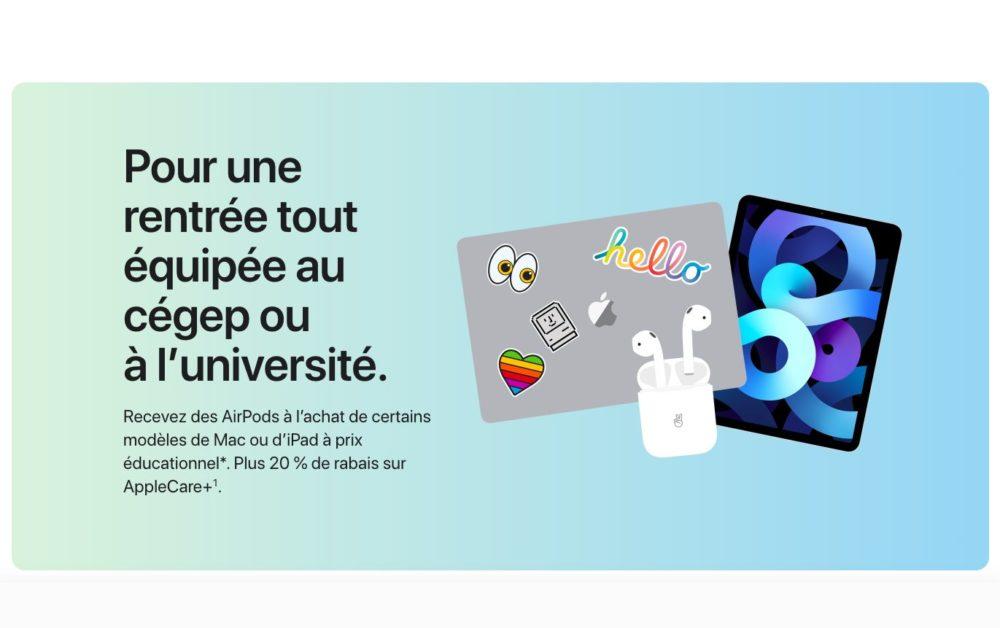 Back To School Apple 2021 Back to School 2021 : à lachat dun iPad ou Mac, vous recevrez gratuitement des AirPods