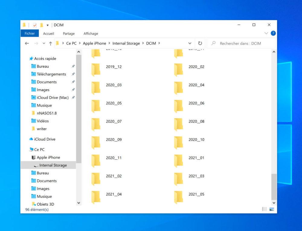 Gestion Photos Sous Windows Apres iOS 14.6 iOS 14.6 permet de retrouver facilement une photo sous Windows