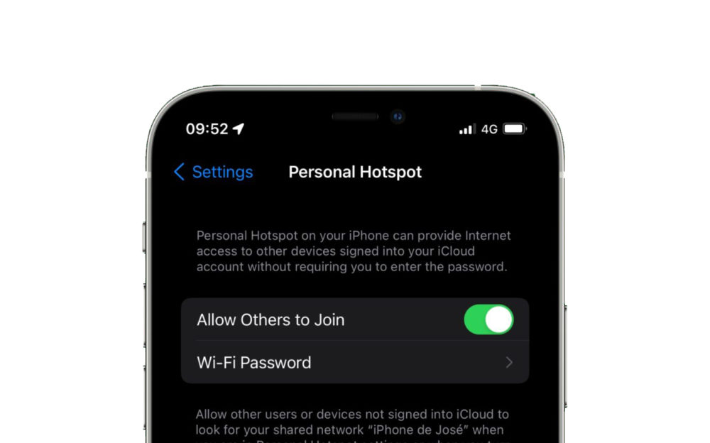Partage de Connexion iOS 15 Le partage de connexion sera plus sécurisé dans iOS 15 grâce au protocole de sécurité WPA3