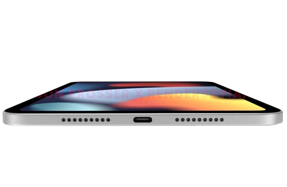 Rendus iPad mini 6 Port USB C iPad mini 6 : des rendus dévoilent un nouveau design, des bordures plus fines et un port USB C