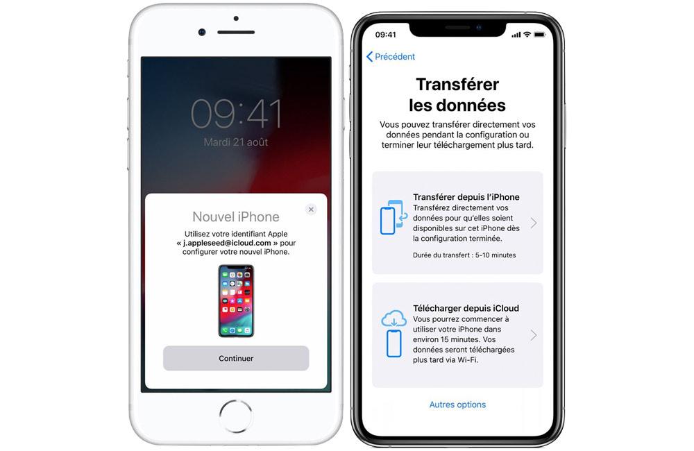 assistant migration demarrage rapide iphone Comment transférer facilement vos données vers votre nouvel iPhone avec le démarrage rapide d'Apple
