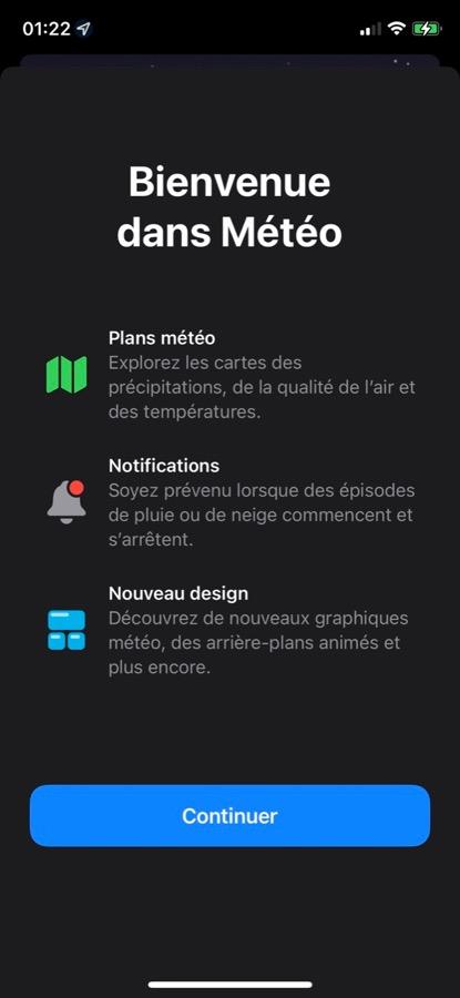 iOS 15 Beta 2 Pop Up Application Meteo iOS 15 et iPadOS 15 bêta 2 : voici la liste des nouveautés