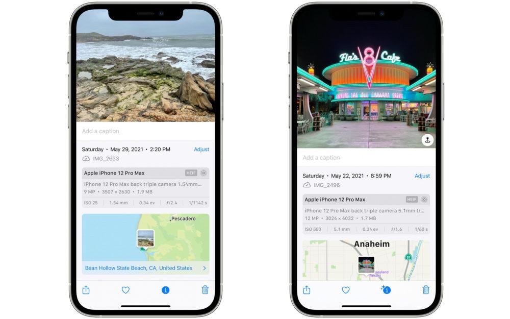iOS 15 Donnees EXIF Photos et Videos Apple publie la bêta 2 développeurs diOS 15.1 et diPadOS 15.1