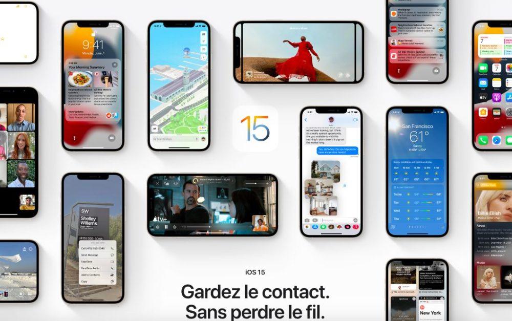 iOS 15 Presentation Francais Les nouveautés diOS 15, de macOS Monterey et de watchOS 8 sont disponibles en français