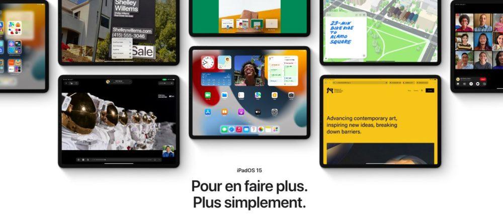 iPadOS 15 Presentation Francais Les nouveautés diOS 15, de macOS Monterey et de watchOS 8 sont disponibles en français