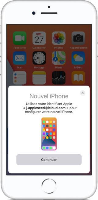 iphone demarrage rapide assistant migration 320x652 Comment transférer facilement vos données vers votre nouvel iPhone avec le démarrage rapide d'Apple