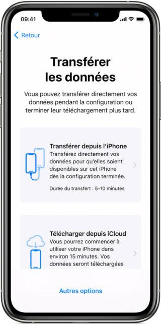 iphone transferer donnees 320x643 Comment transférer facilement vos données vers votre nouvel iPhone avec le démarrage rapide d'Apple
