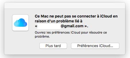 Apple Mail iCloud en Panne Le service Mail iCloud est en panne chez certains utilisateurs