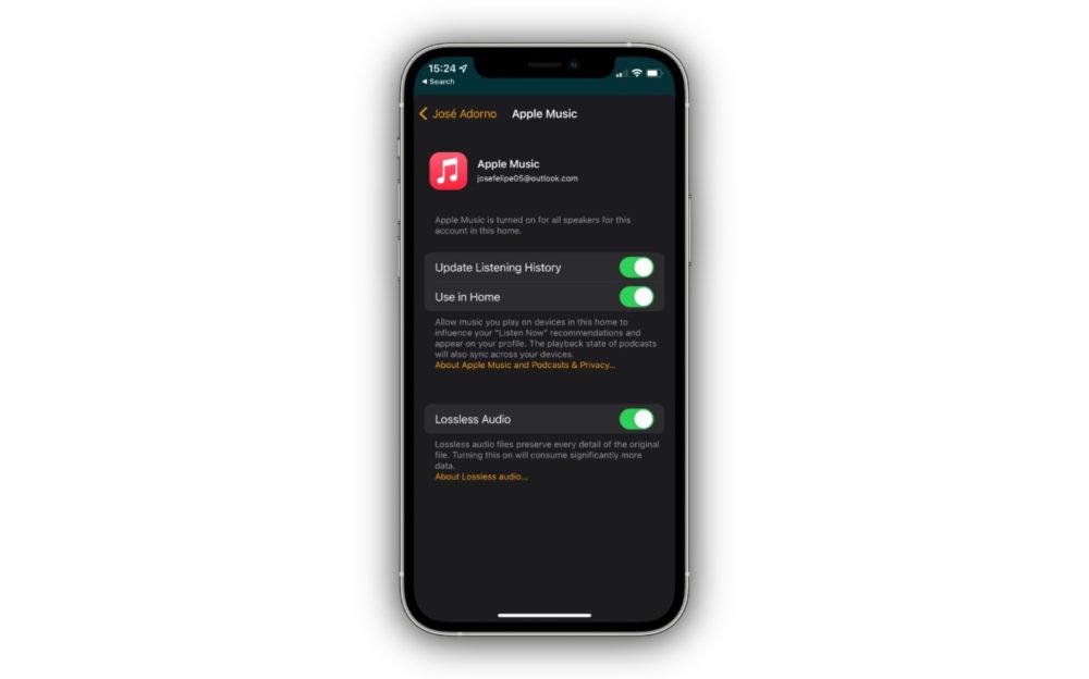 Apple Music Lossless App Maison La bêta 3 du HomePod Software 15 ajoute le support du Lossless (audio sans perte)