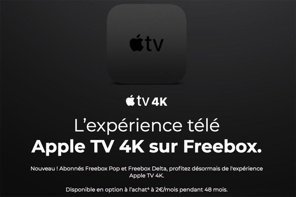 Apple TV 4K Freebox Free propose lApple TV 4K à ses abonnés Freebox Pop et Freebox Delta