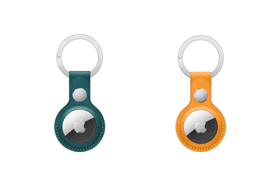 Nouvelles Couleurs Porte Cles en Cuir pour AirTag Apple lance de nouvelles couleurs pour les accessoires des AirTag