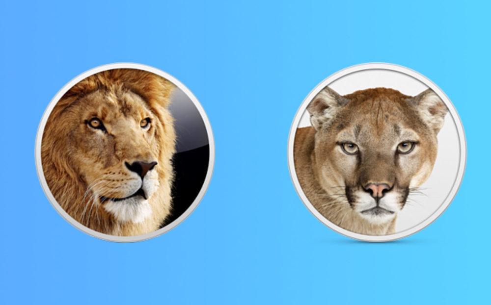 OS X Lion Mountain Lion OS X Lion et Mountain Lion sont disponibles gratuitement au téléchargement