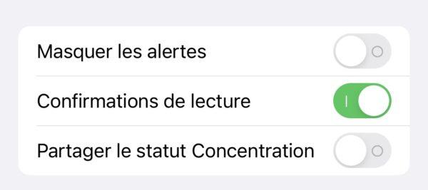 Partager Statut Concentration a Contact Specifique iOS 15 Beta 4 iOS 15 et iPadOS 15 bêta 4 : voici la liste des nouveautés