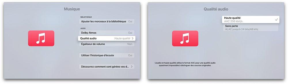 apple tv audio sans perte Comment activer et utiliser Apple Music et le Lossless