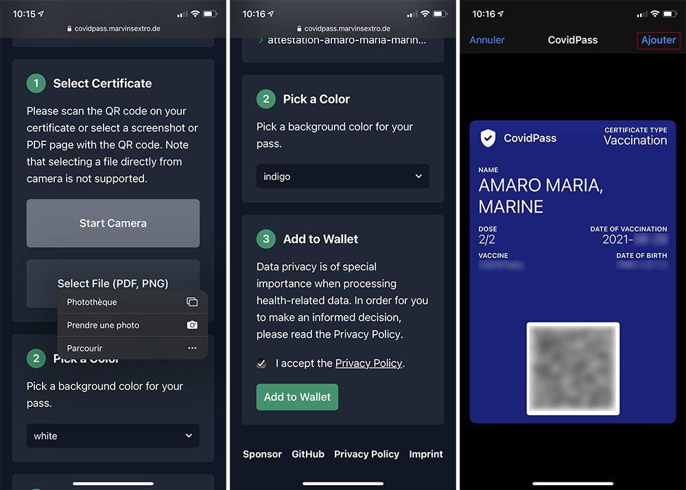 iphone ajout qr code pass sanitaire covid wallet Comment scanner un QR Code pour le pass sanitaire avec TousAnticovid et Wallet sur iPhone ?