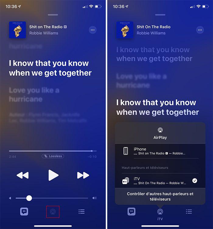 iphone musique airplay Comment activer et utiliser Apple Music et le Lossless