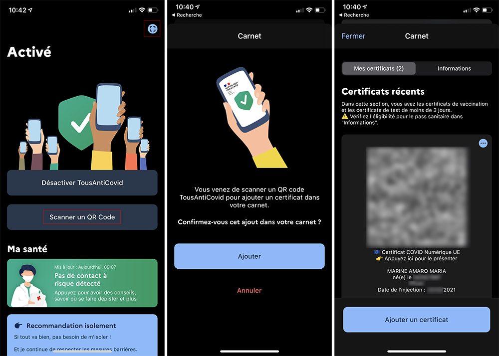 iphone tousanticovid qr code Comment scanner un QR Code pour le pass sanitaire avec TousAnticovid et Wallet sur iPhone ?
