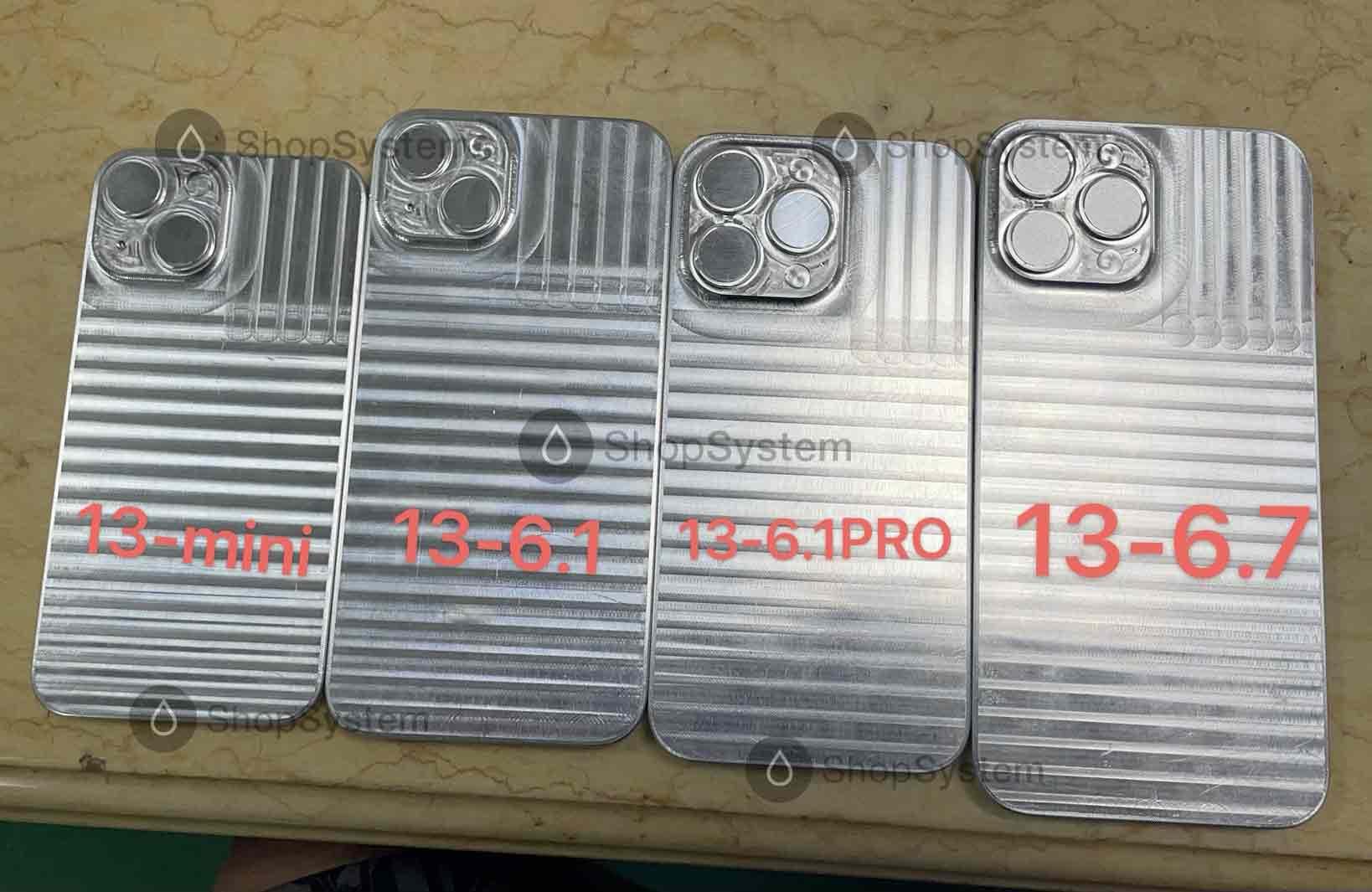 moules i13 iPhone 13 : des moules pour les coques confirment le design