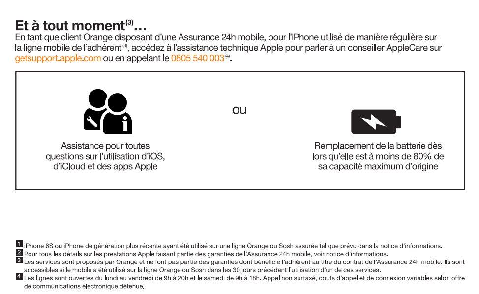 AppleCare Services Orange 1 LAppleCare Services pour les iPhone est disponible chez Orange