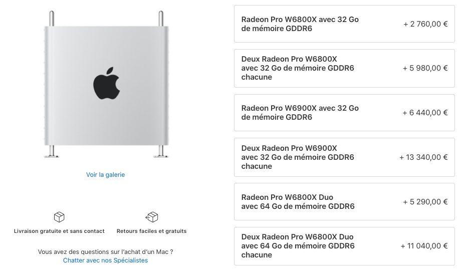Mac Pro Cartes Graphiques Prix Mac Pro : Apple propose de nouvelles cartes graphiques
