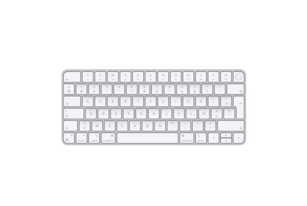 Magic Keyboard avec Touch ID pour les Mac avec puce Apple Le Magic Keyboard avec Touch ID est disponible en achat séparé
