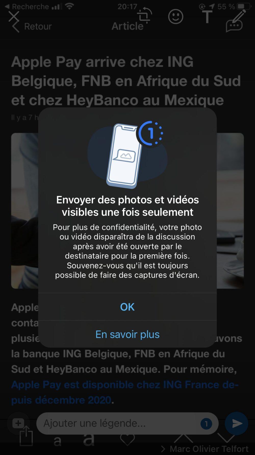 WhatsApp Option Vue Unique AppSystem Article WhatsApp ajoute une option Vue unique pour envoyer des photos et vidéos qui disparaissent après ouverture