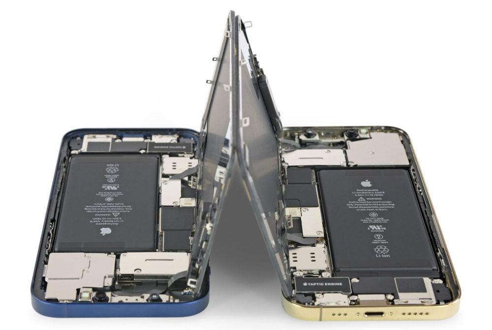 iPhone 12 et iPhone 12 Pro Batterie Des circuits imprimés plus fins afin daugmenter la taille de la batterie des iPhone, iPad et Mac