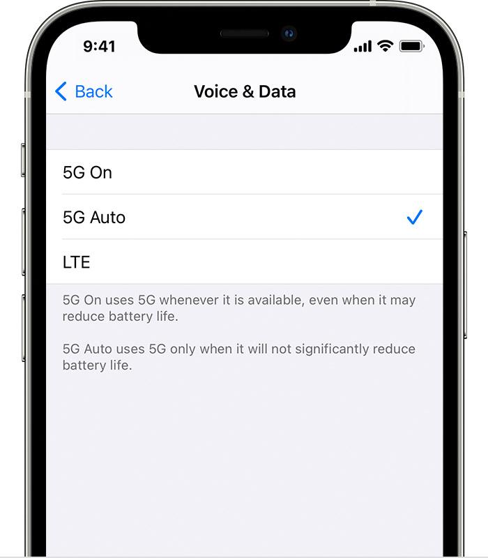 iphone 5g voix donnees Comment activer la 5G sur son iPhone 12