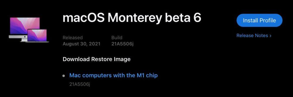 macOS 12 Monterey Beta 6 Developpeurs macOS Monterey : la bêta 6 développeurs est disponible