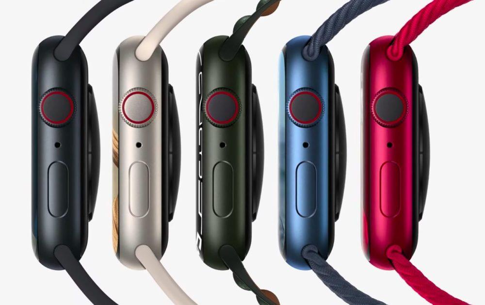 Apple Watch Series 7 Coloris Aluminium Voici lApple Watch Series 7 : design inchangé, écran plus grand, recharge rapide, nouveaux coloris...