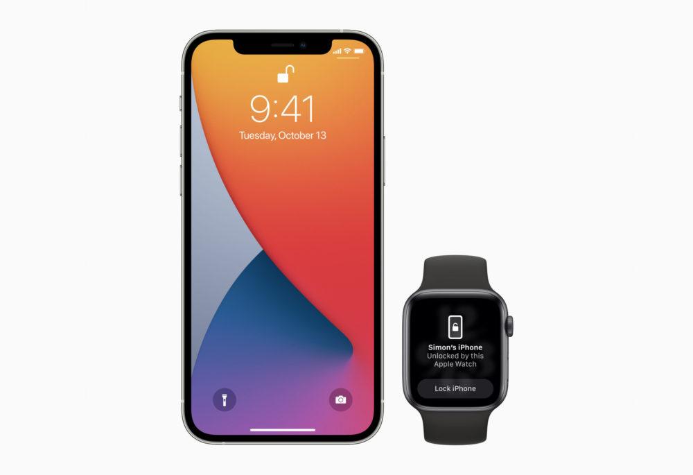 Apple iPhone Deverrouillage Avec Apple Watch iOS 15.1 : la bêta 2 corrige le bug qui empêche le déverrouillage de liPhone 13 avec lApple Watch