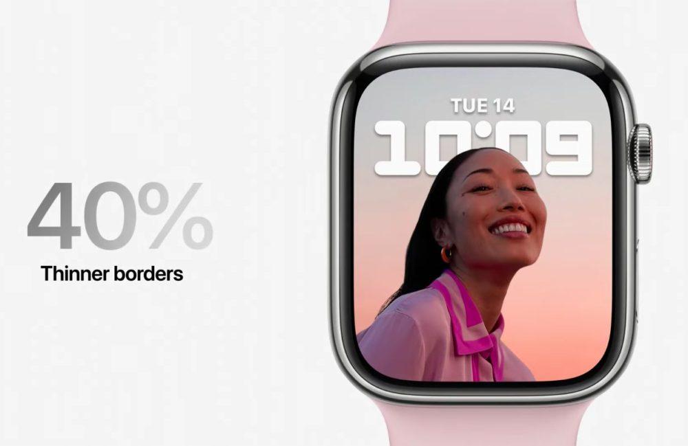 Bordures Ecran Apple Watch Series 7 Voici lApple Watch Series 7 : design inchangé, écran plus grand, recharge rapide, nouveaux coloris...