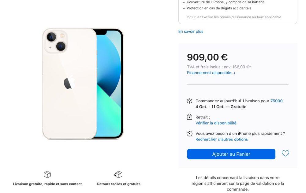 Delai Livraison iPhone 13 128 Go Lumiere Stellaire Les délais de livraison des iPhone 13 sallongent (déjà !)