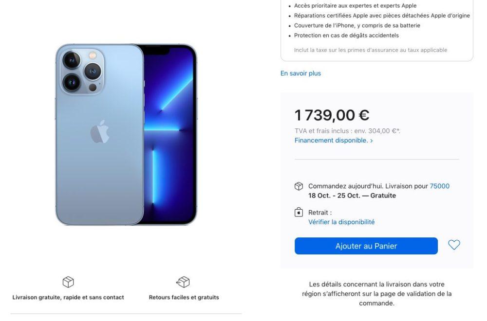 Delai Livraison iPhone 13 Pro 1 To Bleu Alpin Les délais de livraison des iPhone 13 sallongent (déjà !)