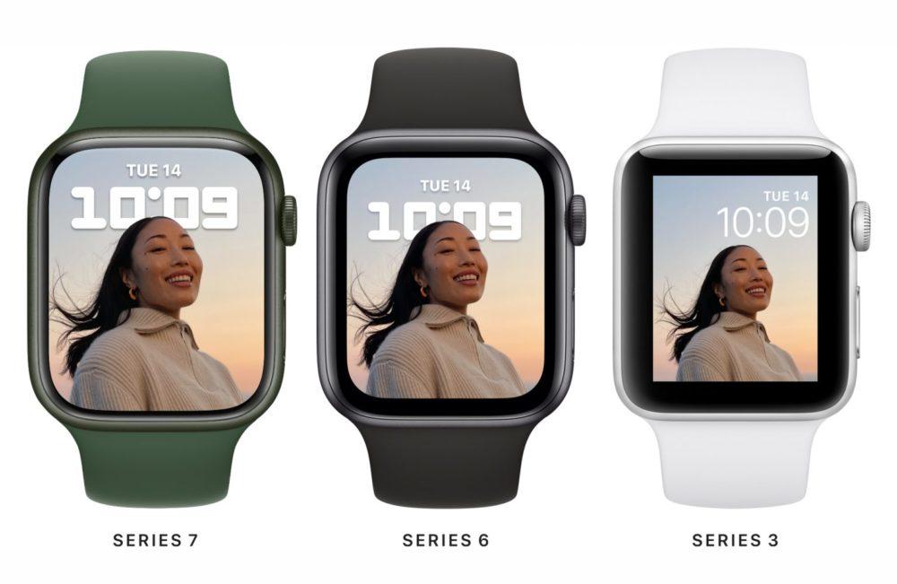 Ecran Apple Watch Series 7 Series 6 Series 3 Voici lApple Watch Series 7 : design inchangé, écran plus grand, recharge rapide, nouveaux coloris...