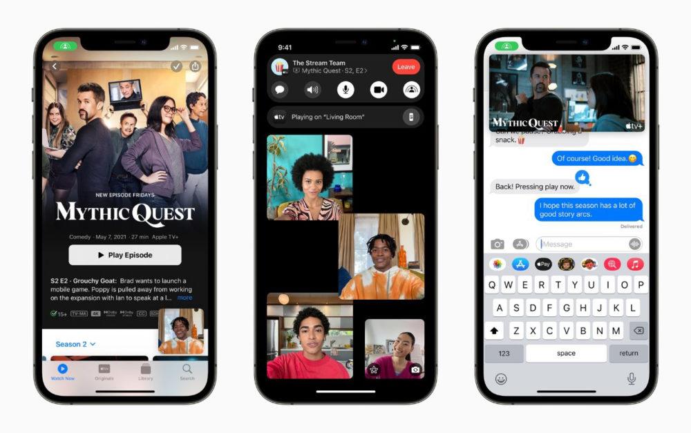 SharePlay iPhone 12 La bêta 3 développeurs diOS 15.1 et diPadOS 15.1 est disponible