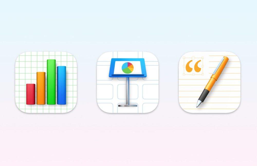 Suite iWork Apple Icones Big Sur Apple met à jour Pages, Numbers et Keynote et ajoute les fonctionnalités diOS 15 et de macOS Monterey