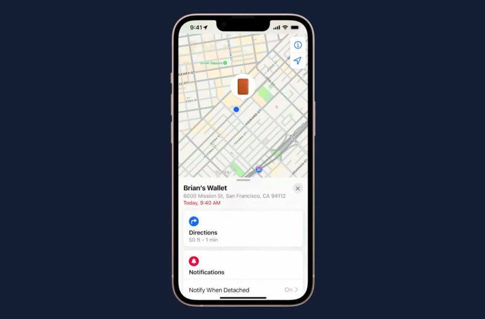 iPhone 13 MagSafe Wallet Cuir App Localiser Apple annonce liPhone 13 et iPhone 13 mini : encoche plus petite, mode portrait pour la vidéo, puce A15...