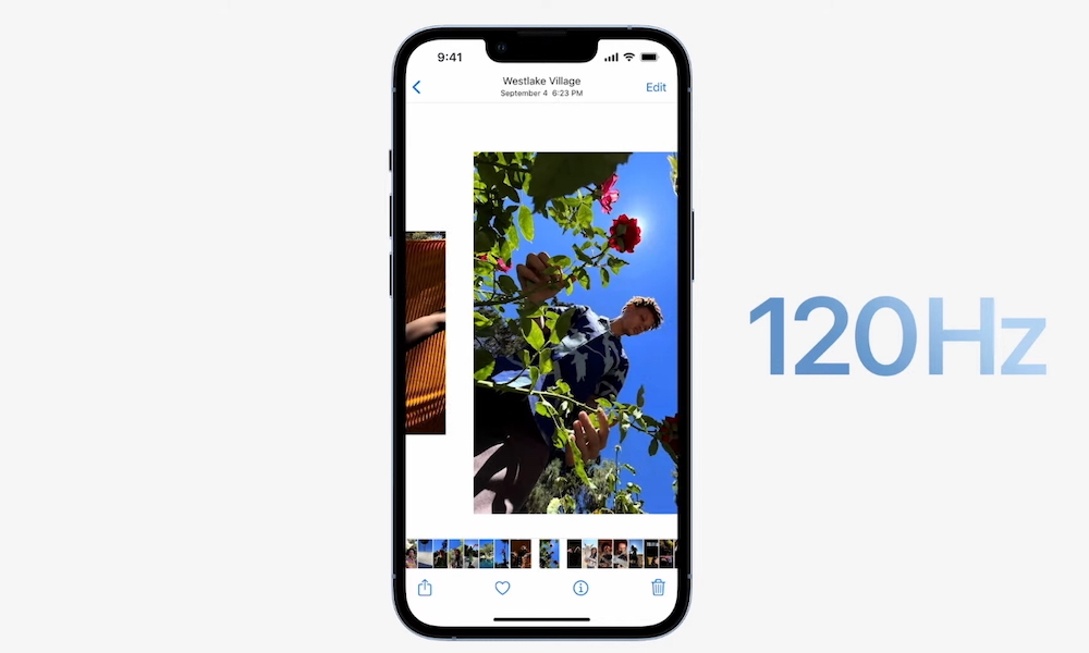 iPhone 13 Pro Max 120Hz ProMotion iPhone 13 Pro et Pro Max : Samsung se moque dApple et de lécran 120 Hz