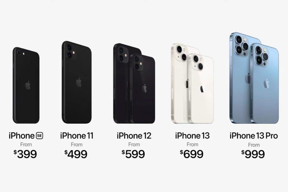 iPhone SE 2020 iPhone 11 iPhone 12 iPhone 13 iPhone 13 Pro Prix Keynote 14 Septembre 2021 Les iPhone 13 sont là, Apple ne vend plus les iPhone XR, 12 Pro et 12 Pro Max