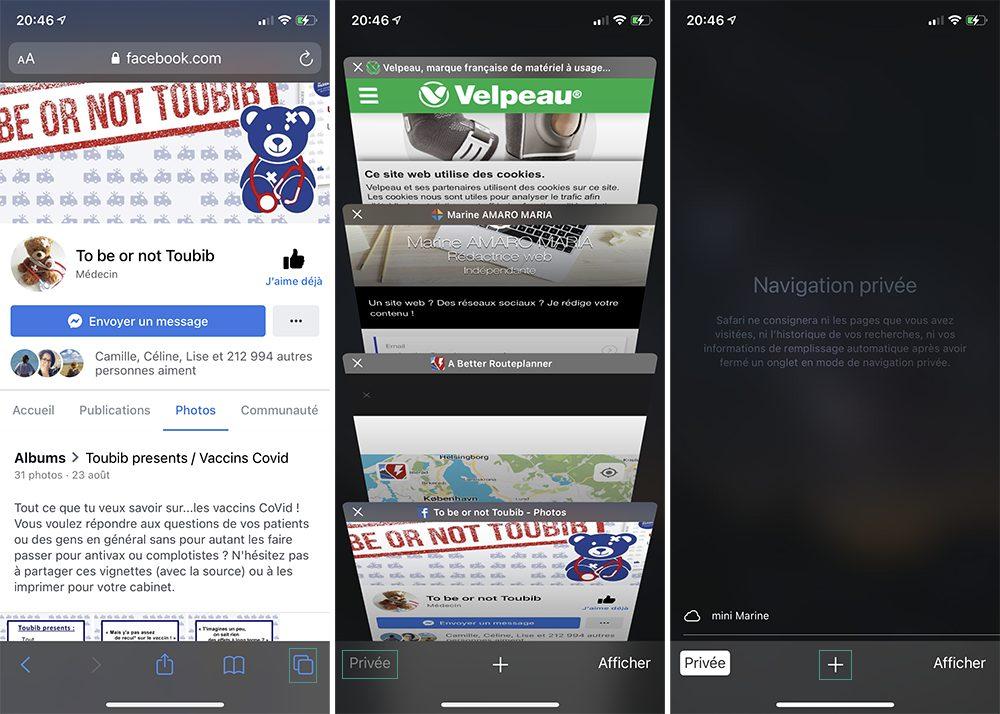 iphone safari navigation privee La Navigation privée Safari sur iPhone et Mac