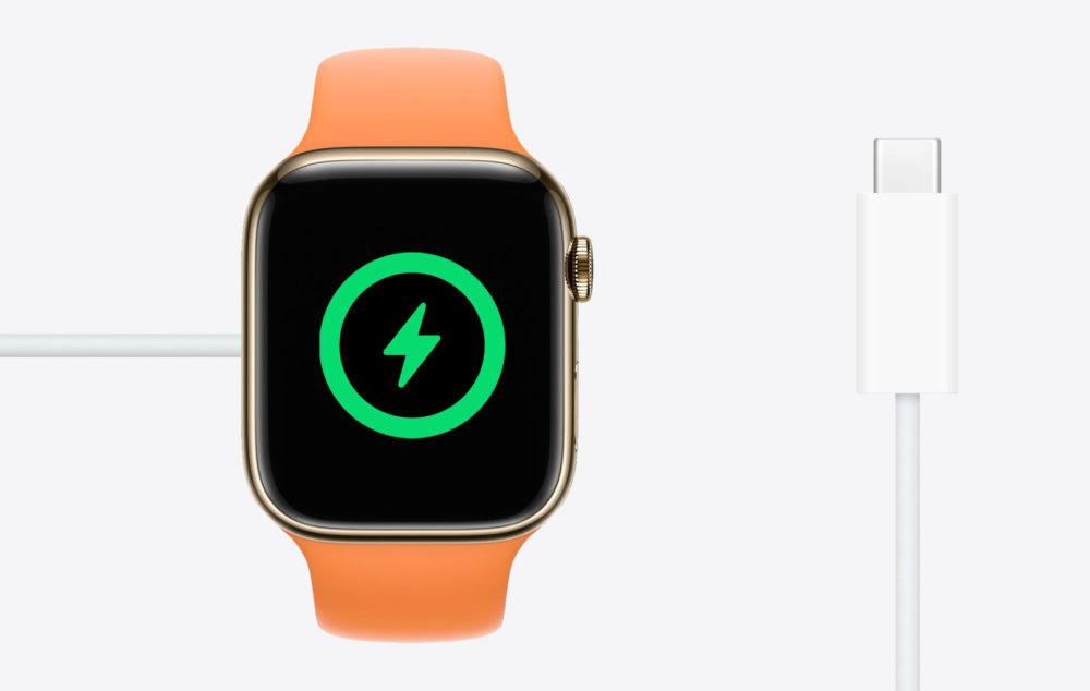 Apple Watch USB C Charge Rapide Apple vend à présent lApple Watch SE avec un câble USB C dans la boîte
