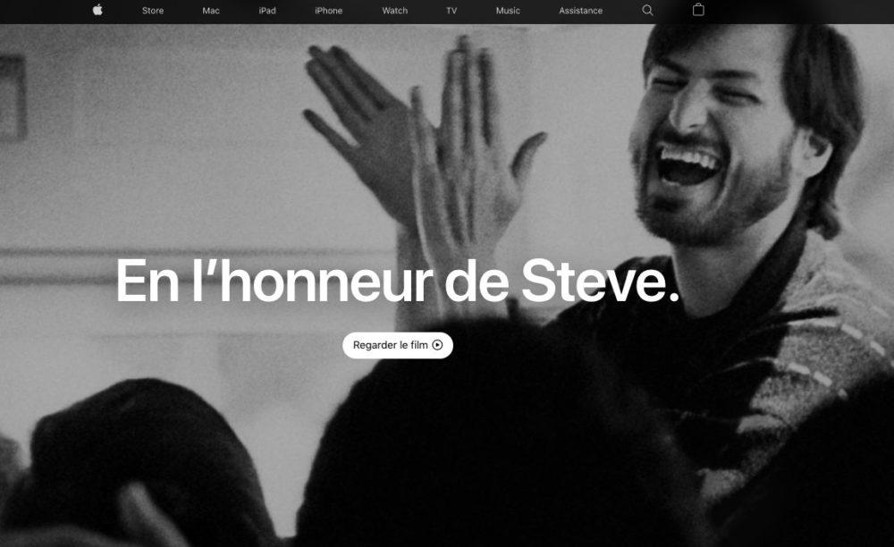 Commemoration Deces Steve Jobs Page Accueil Apple Apple commémore les 10 ans du décès de Steve Jobs, son cofondateur, sur sa page daccueil